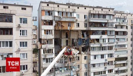 ТСН зняла наслідки руйнівного вибуху у будинку в Києві з квадрокоптера