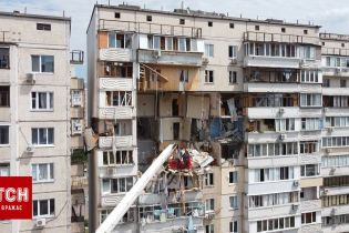 ТСН сняла последствия разрушительного взрыва в доме в Киеве с квадрокоптера