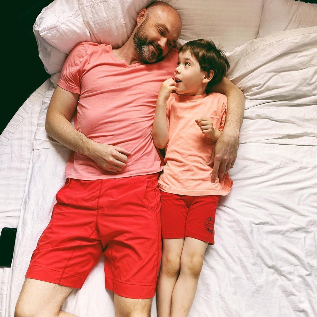 Тимур Хромаєв з сином