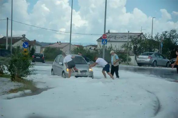 сніг у Хорватії