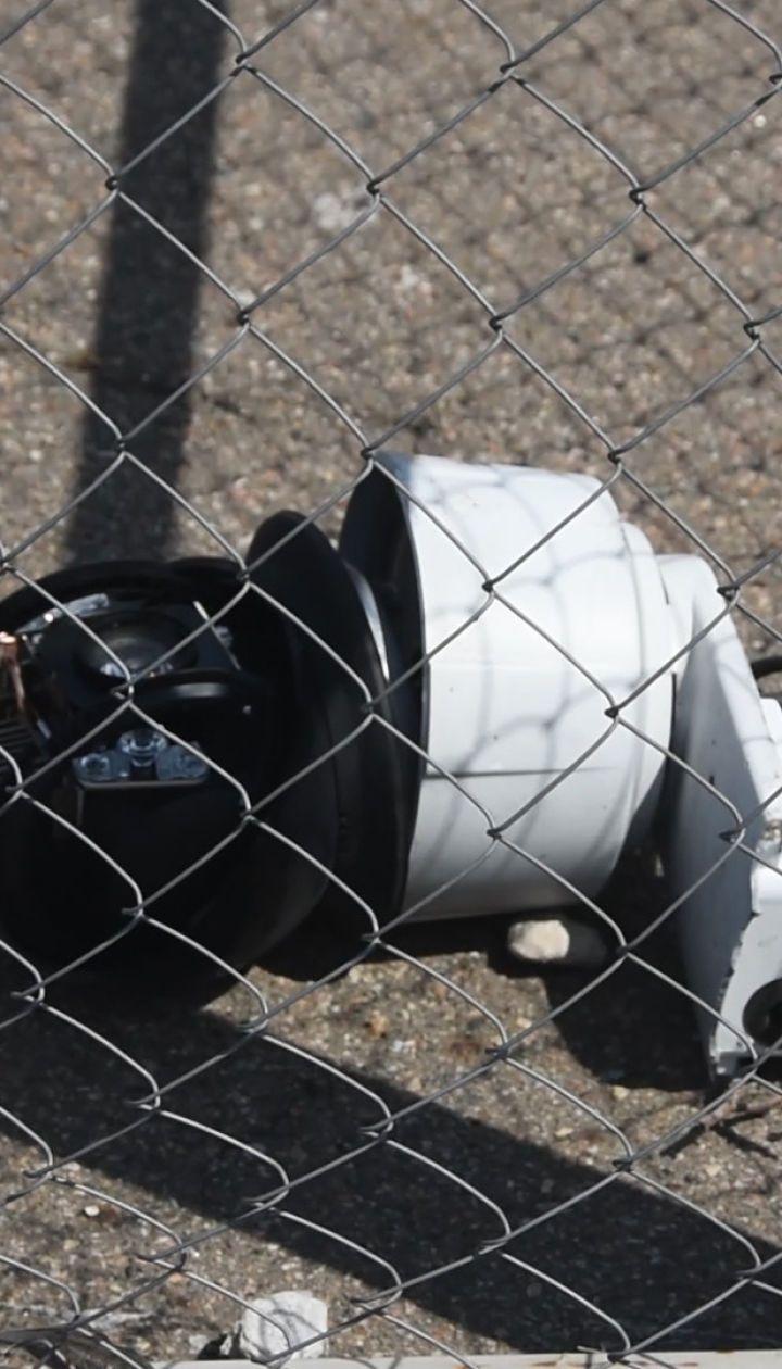 В Широкино боевики ракетой сбили камеру ОБСЕ