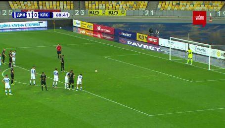 Динамо - Колос - 1:1. Видео гола Вильхальмссона с пенальти