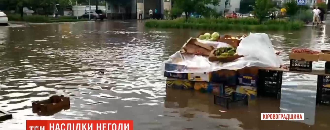 Повалені дерева й затоплені обійстя: Україною пройшлася негода