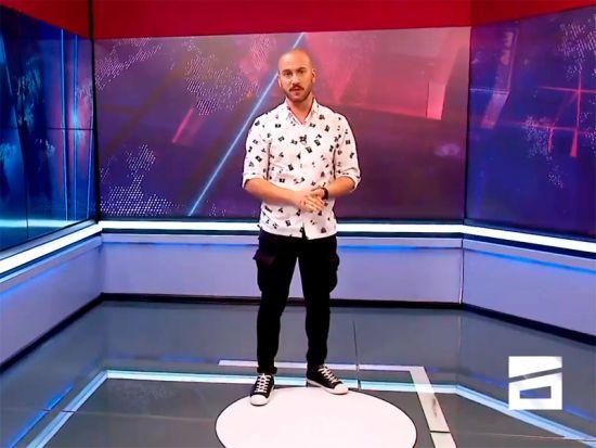 Грузинський ведучий, який обматюкав Путіна, знову вилаяв його в ефірі телеканалу