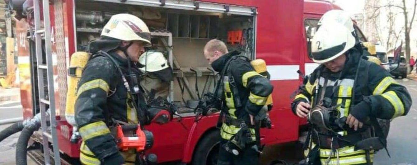 В центре Киева горела девятиэтажка