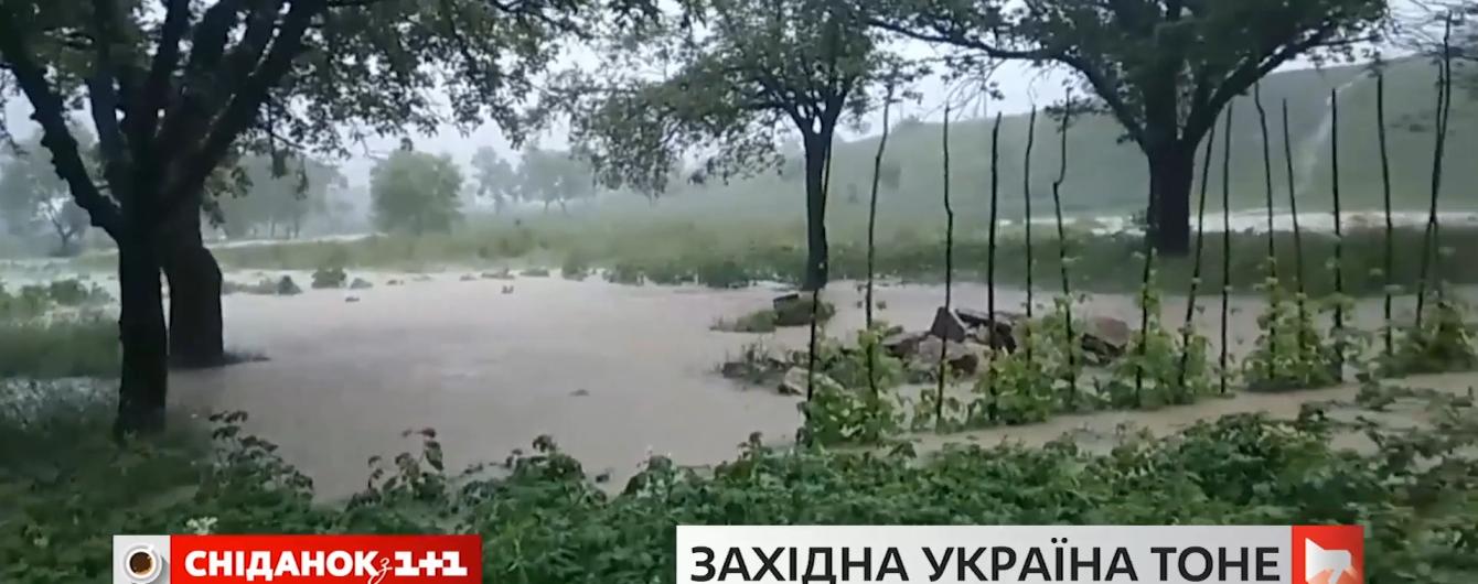 """""""Люди напуганы"""": на Прикарпатье наводнение затопило целое село и отрезало его с обеих сторон"""