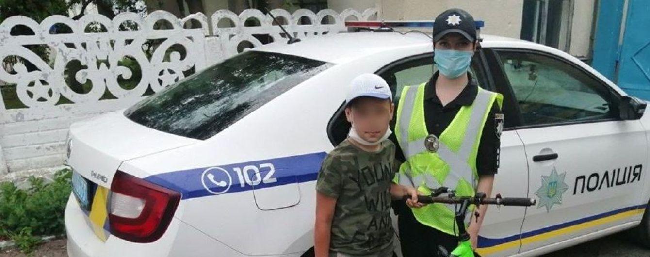 На трасі Київ-Чоп поліція виявила 11-річного хлопчика, що мандрував до сусідньої області