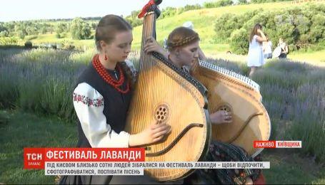 Под Киевом люди собрались на фестиваль лаванды