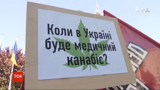 Активісти і тяжкохворі українці вимагали легалізувати медичний канабіс під Офісом президента - Зеленський відреагував