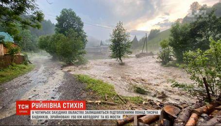 Проливные дожди на Западе Украины продолжаются вторую неделю подряд
