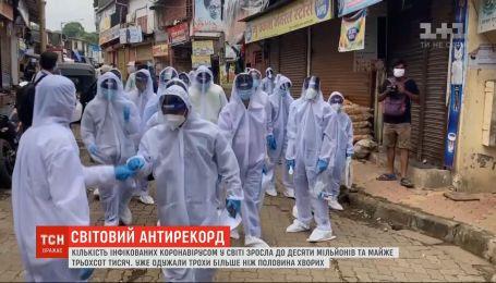Коронавірус у світі: кількість інфікованих зросла до 10 мільйонів та майже 300 тисяч