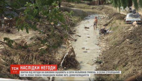Убытки от стихии на Буковине оценивают в сотни миллионов гривен