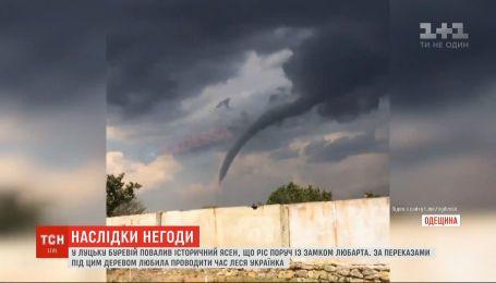 Наслідки негоди: у різних регіонах України зливи затопили вулиці, а в полях утворилися смерчі