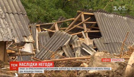 Убытки от стихии на Прикарпатье достигают более двух миллиардов гривен