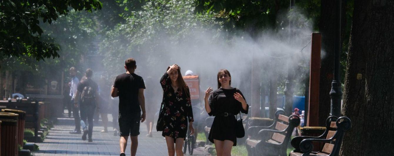 У Києві встановили рамки-освіжувачі: адреси парків, де можна врятуватися від спеки