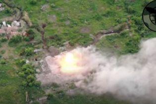 """Військові знищили позицію бойовиків, яку """"засвітили"""" окупанти під час інтерв'ю"""