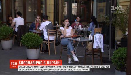 В Україні зріс показник захворюваності на коронавірус до 58 осіб на 100 тисяч населення