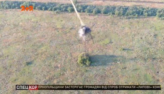 Бійці ювелірним ударом збили камеру спостереження бойовиків зі стовпа