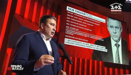 Саакашвили о споре между Смолием и Зеленским во время заседания Национального совета реформ