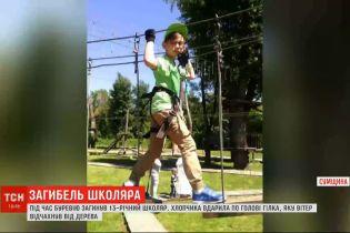 Буревій у Сумській області: відламана гілляка вбила школяра