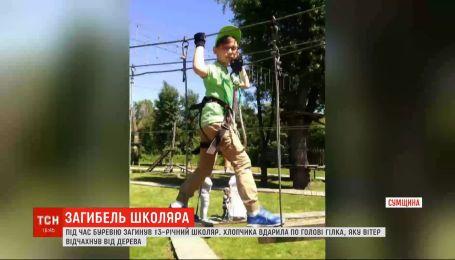 Ураган в Сумской области: от удара огромной веткой погиб школьник