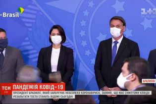 Президент Бразилії, який заперечує небезпеку коронавірусу, заявив, що має симптоми