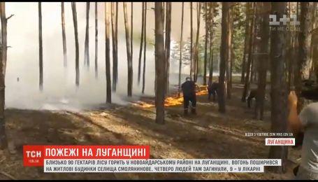 Масштабные пожары в лесах Луганской области: пламя уничтожило десятки домов, есть жертвы