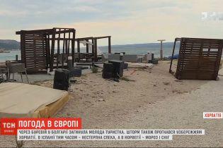 Погода в Европе: в Болгарии и Хорватии промчались ураганы, а на юге Испании - невыносимая жара