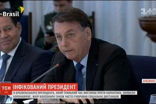 У президента Бразилии, который выступал против карантина, обнаружили коронавирус