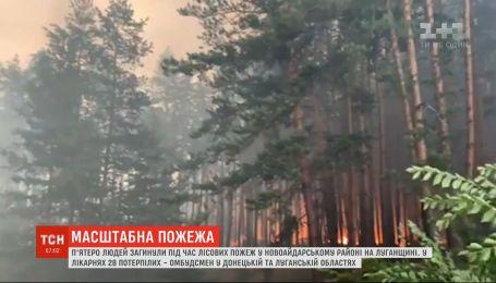 В результате пожаров в Луганской области погибли 5 человек, около 30 в больнице