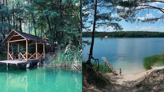 Вікенд на Блакитних озерах: купання в лазуровій воді та відпочинок серед сосен