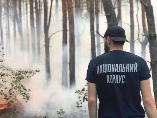 Поліція не пустила добровольців Нацкорпусу до охопленого вогнем села в Луганській області