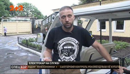 Ветеран Ігор Сімутін відремонтував та передав військовому шпиталю електромобіль