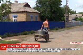 Сільський водорозділ: війна за воду розгорілася в селі Кіровоградської області