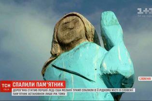 В Словении сожгли деревянную статую первой леди США Мелании Трамп
