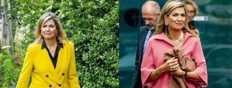 Рожевий або жовтий: битва яскравих луків королеви Нідерландів Максими