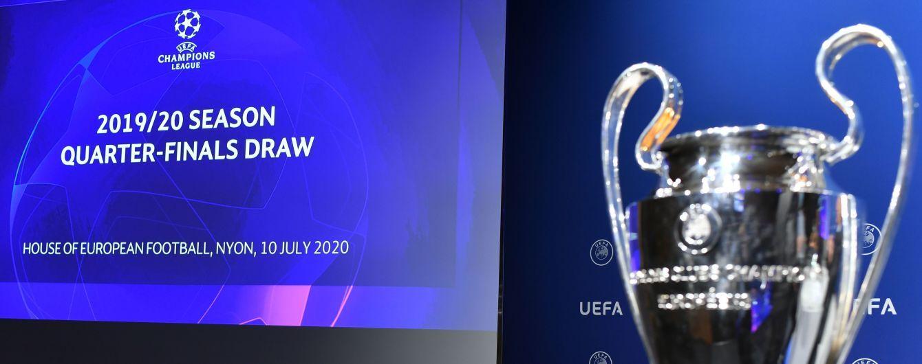 """Ліга чемпіонів-2019/20: результати жеребкування """"Фіналу восьми"""""""