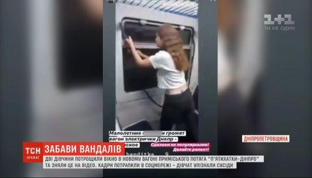 В Днепропетровской области двое девушек разгромили вагон электрички