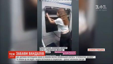 В Днепропетровской области девушки ради развлечения разбили вагон электрички