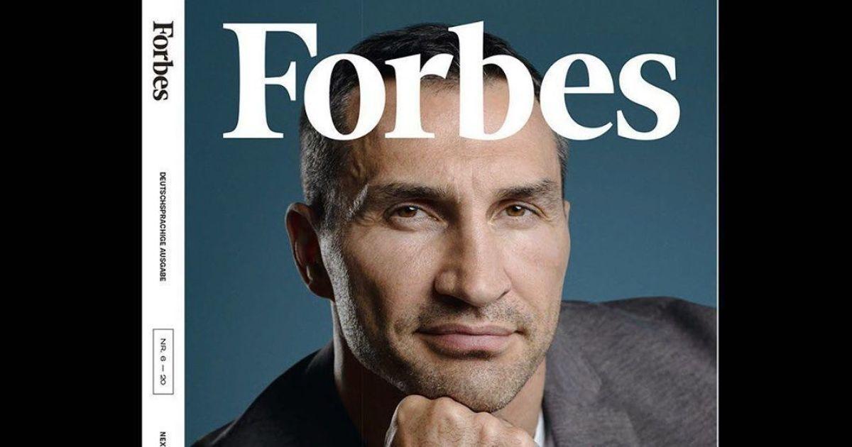 Стильный Владимир Кличко попал на обложку Forbes