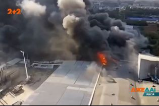 В российском городе Самара произошел крупный пожар на складе