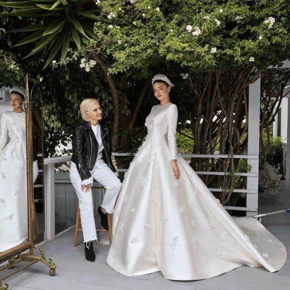 Свадебные платья моделей_13