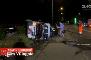 ДТП в Киеве: легковушка врезалась в скорую, которая ехала на вызов