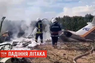 В Киевской области упал легкомоторный самолет