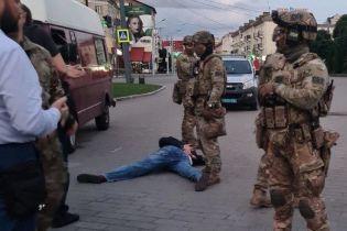 Появились видео задержания луцкого террориста