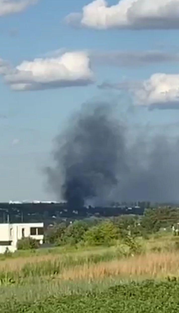 Под Киевом горит свалка