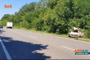 В Донецькій області водій ВАЗ уявив себе гонщиком – через ДТП він вилетів у кювет