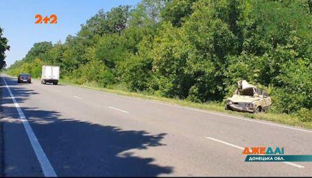 В Донецкой области водитель ВАЗ представил себя гонщиком – из-за ДТП он вылетел в кювет
