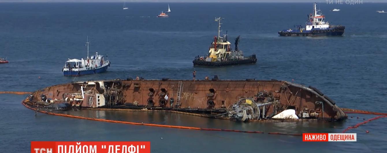 Очередная попытка поднять Delfi: почему с моря уже более полгода не могут убрать затонувший танкер
