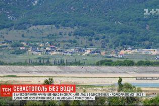 Залишитися без води: у Криму висихає найбільше водосховище Чорноріченське